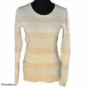 J Crew factory crewneck textured sweater pastel XS